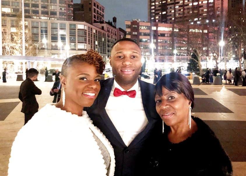 Mom with two grown kids in New York City.