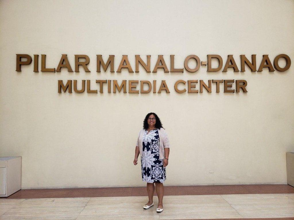 Melissa Gice at the Pilar Manalo-Danao Multimedia Center