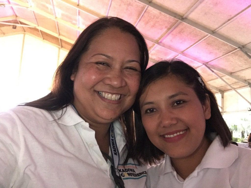 Christine Balbuena posing with a friend