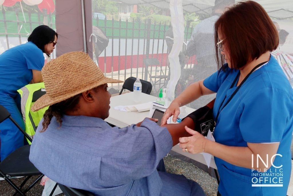 Free medical screenings were among the services offered to community members at the FYM Foundation's Aid to Humanity event.