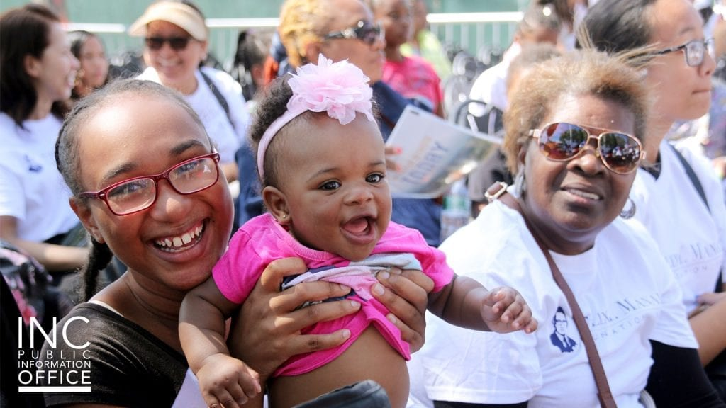 Residents of Brownsville at the FYM Foundation's Aid to Humanity event.